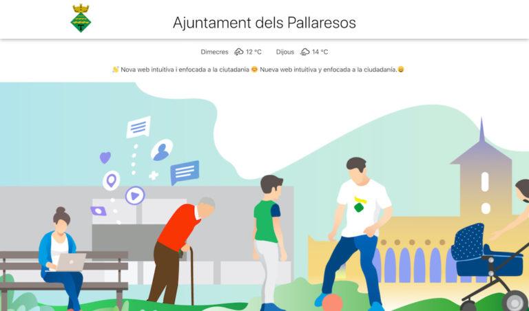 Disseny nova web Ajuntament Els Pallaresos